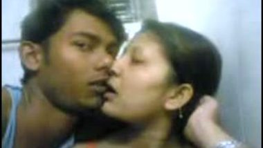 Indian sex scandal mms clip of desi young bhabhi with secret lover