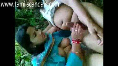 Bangla Bhabhi Sucking BF Dick at Outdoor