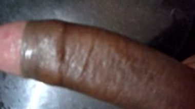 Stroking Hard Black Cock