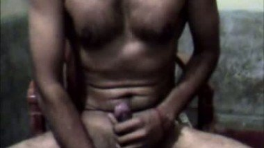 Indian man hot cumshot on webcam