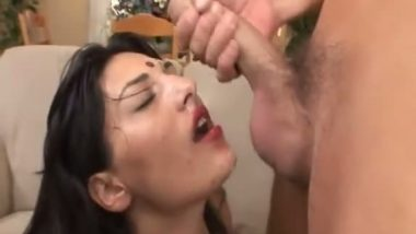 Facial cum shot on nri sexy slut