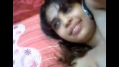 Beautiful Indian girl playing with her pussy in front of lover