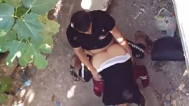 Outdoor sex scene of desi village couple