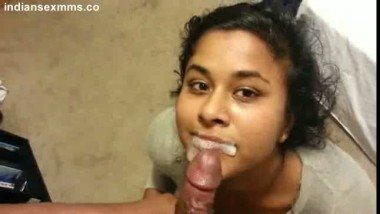 Indian slutty GF giving awesome blowjob & Facial Cum On her Face Scandal