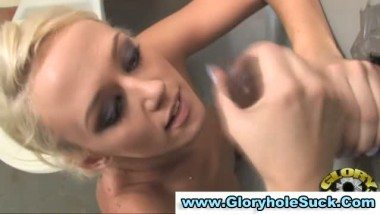 Gloryhole fuck suck and cum facial