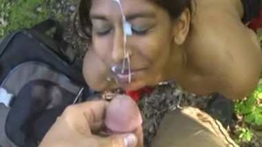 Lucknow College Girlfriend Gets Cum Facial Outdoor