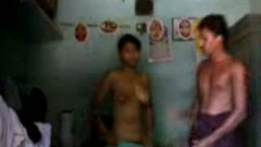 Desi village girl first time sex with salesman when she alone in home