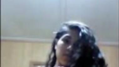 Nice looking desi girlfriend revailing herself