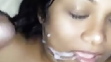 Indian wife takes a facial