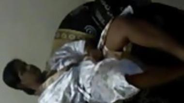 Satin nighty aunty fingering her pussy