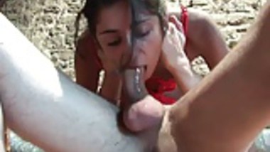 FFM French Indian slut fucked hard and facialized