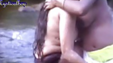 Indian lesbians having fun in the river