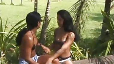 Indian Lesbian Girlfriend Outdoor Kissing
