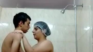 Hot shower sex of a mom and her son