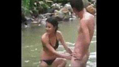 Desi horny teens having fun in the river