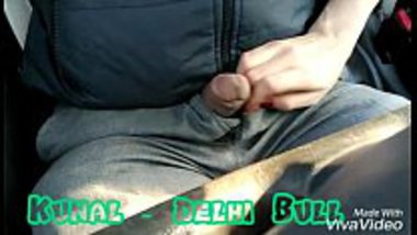 Kunal flashing dick to his girlfriend in the car who strokes it