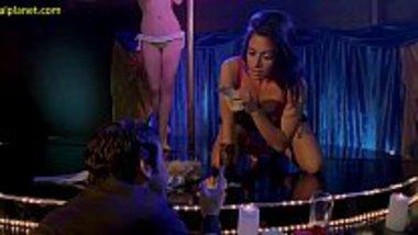 Sarah Shahi doing a hot striptease in a movie