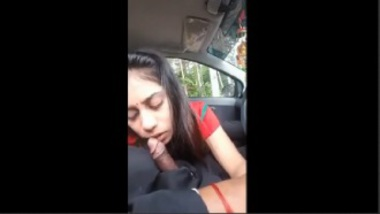 Indian Girl's Hardcore Blowjob Inside The Car
