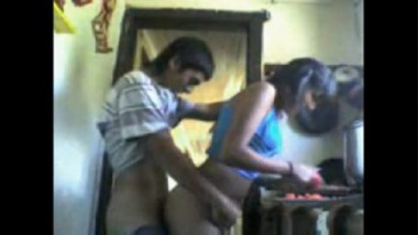 Indian Couple Having Nice Sex In Kitchen