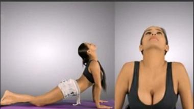 Poonam Pandey Teaching Yoga