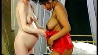 British Indian RANI with white lesbian (both pregnant)