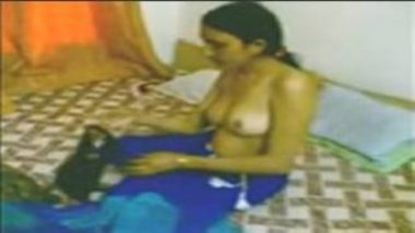 Desi Call Girl Waiting For Payment Topless After Sex