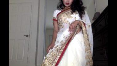Desi And Horny Bhabhi Maya's Erotic Saree Strip