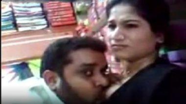 Punjabi hot bhabhi boobs sucked in shop